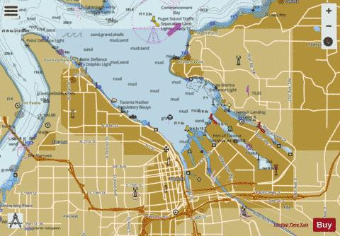 POSSESSION SOUND TO OLYMPIA Marine Chart - Nautical Charts App