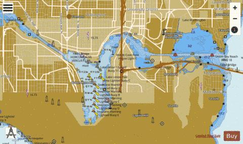 LAKE WASHINGTON SHIP CANAL AND LAKE WASHINGTON Marine Chart - Nautical Charts App