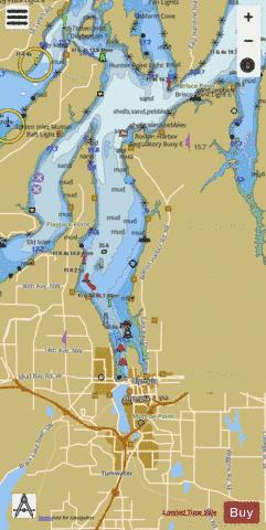 OLYMPIA HARBOR AND BUDD INLET Marine Chart - Nautical Charts App