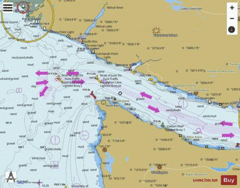 STRAIT OF JUAN DE FUCA ENTRANCE Marine Chart - Nautical Charts App