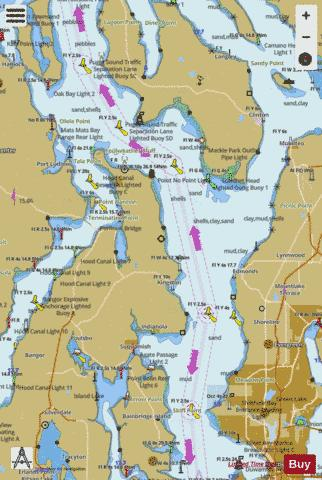 OAK BAY TO SHILSHOLE BAY PUGET SOUND Marine Chart - Nautical Charts App