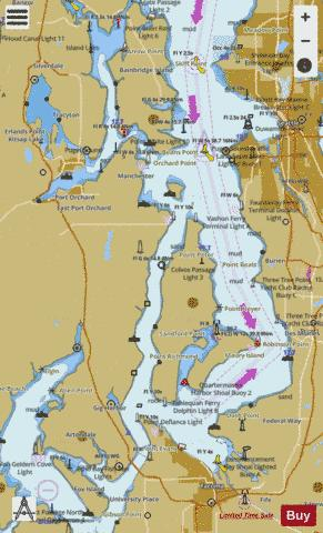 PUGET SOUND SHILSHOLE BAY TO COMMENCEMENT BAY Marine Chart - Nautical Charts App