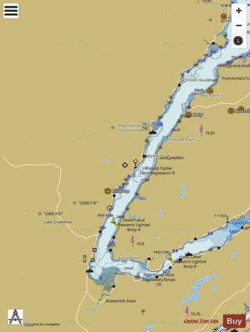 Puget Sound Hood Canal And Dabob Bay Marine Chart Us18476p1942