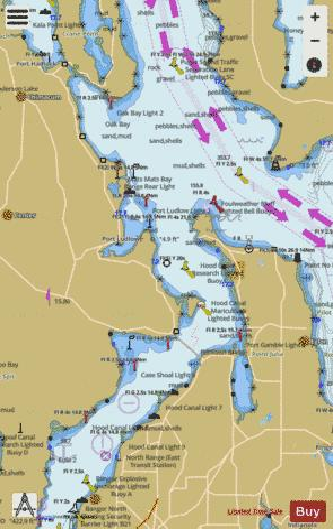 puget sound entrance to hood c marine chart nautical charts app