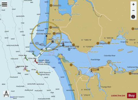COLUMBIA RIVER PACIFIC OCEAN TO HARRINGTON POINT Marine Chart - Columbia river map us