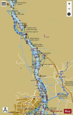 COLUMBIA RIVER CRIMS ISLAND TO SAINT HELENS Marine Chart - Nautical Charts App