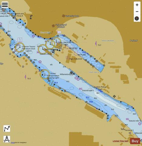 SWAN ISLAND BASIN WILLAMETTE RIVER Marine Chart USP - Willamette river on map of us