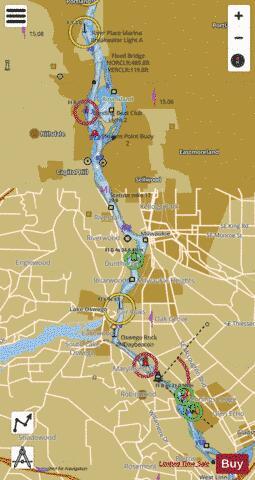 WILLAMETTE RIVER PORTLAND TO WALNUT EDDY Marine Chart - Willamette river on map of us