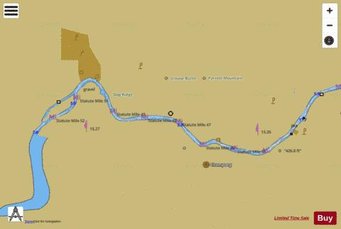 WILLAMETTE RIVER WALNUT EDDY TO NEWBURG Marine Chart - Willamette river on map of us