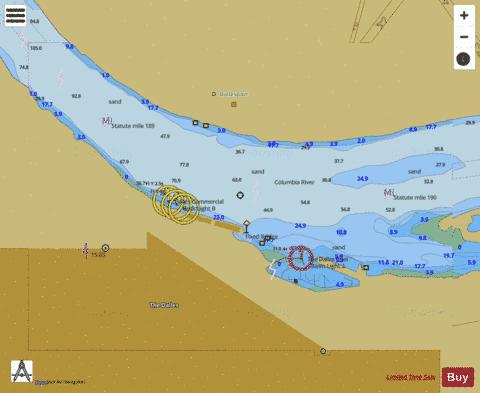 THE DALLES Marine Chart - Nautical Charts App