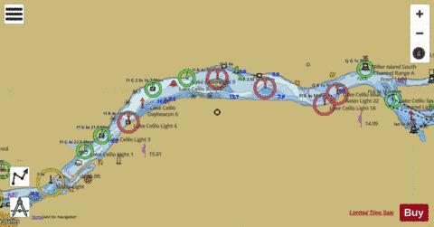 COLUMBIA RIVER LAKE CELILO Marine Chart USP - Columbia river map us