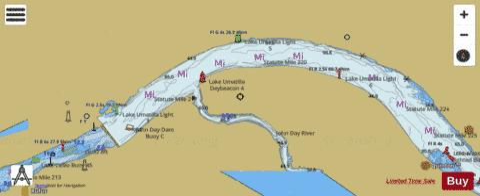 COLUMBIA RIVER JOHN DAY DAM TO BLALOCK Marine Chart - Columbia river map us