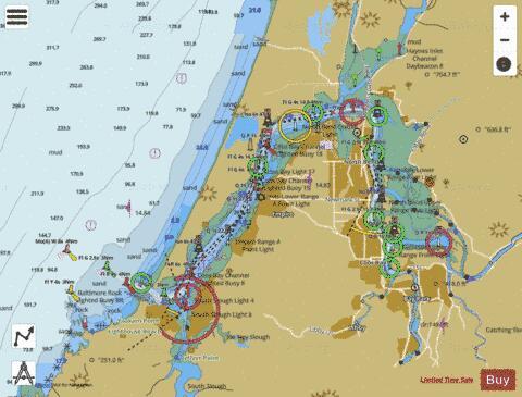 Coos Bay Marine Chart Us18587 P1796 Nautical Charts App