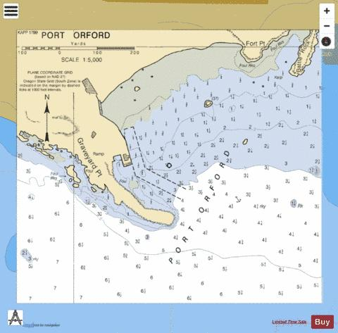 PORT ORFORD Marine Chart - Nautical Charts App