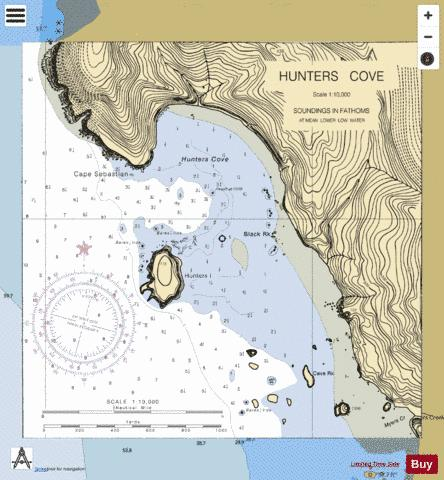 HUNTERS COVE Marine Chart - Nautical Charts App
