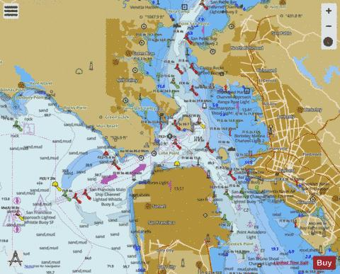 SAN FRANCISCO ENTRANCE Marine Chart - Nautical Charts App