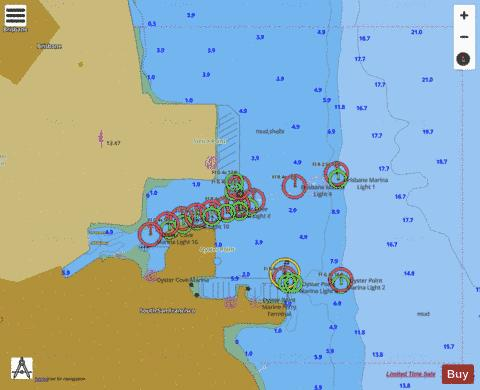 OYSTER POINT Marine Chart - Nautical Charts App