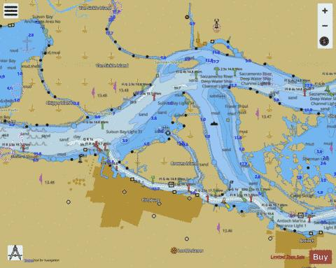 SUISUN BAY MALLARD ISLAND TO ANTIOCH Marine Chart - Nautical Charts App