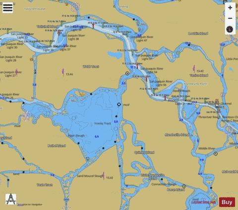 STOCKTON DEEP WATER CHANNEL  ANTIOCH TO MEDFORD PANEL A Marine Chart - Nautical Charts App