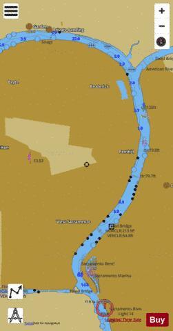 Sacramento River Inset Marine Chart Us18662p1859 Nautical