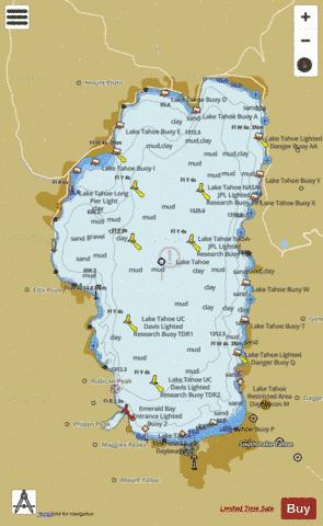 LAKE TAHOE Marine Chart - Nautical Charts App