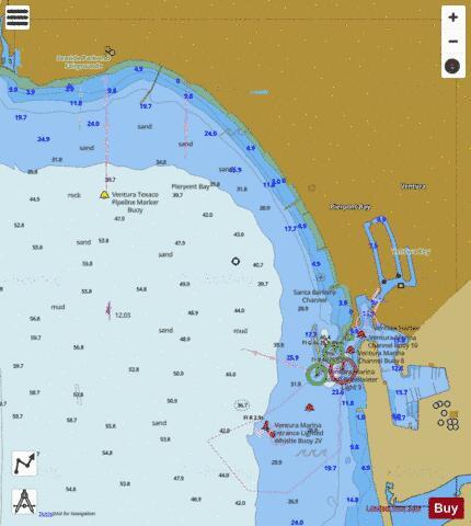 Ventura Marine Chart Us18725p1887 Nautical Charts App