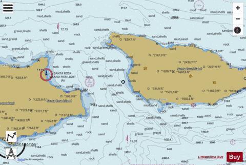 Santa cruz channel marine chart us18728 p1890 for Santa cruz fishing spots
