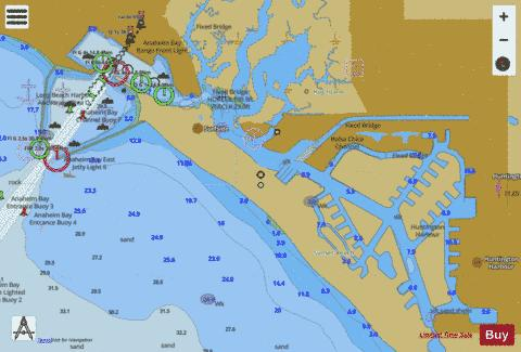 ANAHEIM BAY--HUNTINGTON HARBOUR Marine Chart - Nautical Charts App