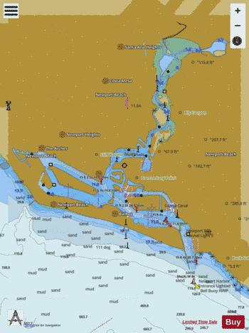 NEWPORT BAY (Marine Chart : US18754_P1907) | Nautical Charts App