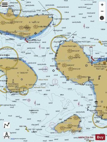 Channels Between Molokai Marine Chart Nautical Charts