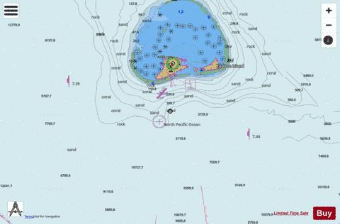 MIDWAY ISLANDS (Marine Chart : US19481_P2826) | Nautical Charts App