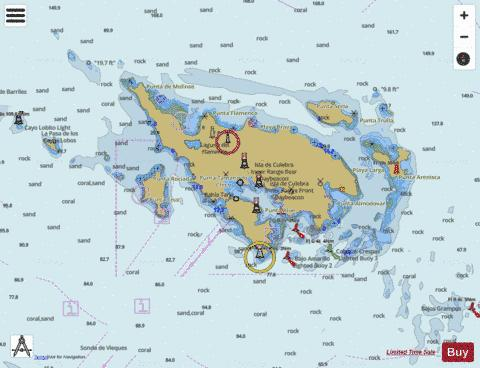 ISLA DE CULEBRA AND APPROACHES Marine Chart - Nautical Charts App