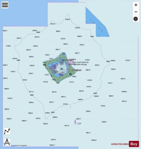 Samoa islands rose atoll marine chart us83484p2842 nautical samoa islands rose atoll marine chart nautical charts app ccuart Images
