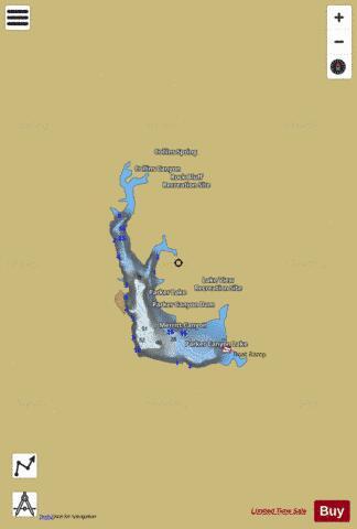 map of canyon lake Parker Canyon Lake Fishing Map Us Aa Az Parker Canyon Lake Az map of canyon lake