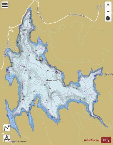 Shaver Lake Fishing Map Us Aa Ca 00266058 Nautical Charts App