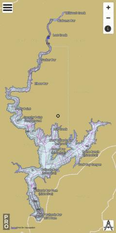 New Bullards Bar Reservoir Fishing Map - i-Boating App