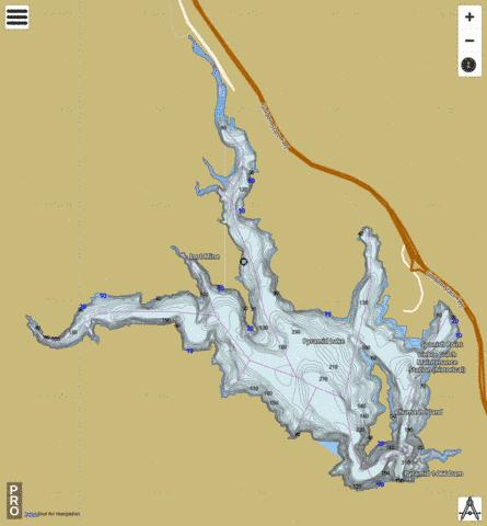 castaic lake fishing map Pyramid Lake Fishing Map Us Aa Ca 00273141 Nautical Charts App castaic lake fishing map