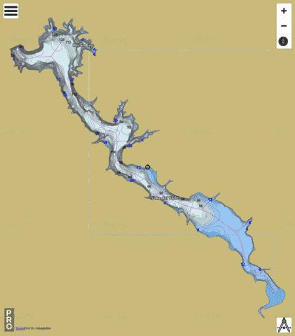 Lake Del Valle Fishing Map - i-Boating App
