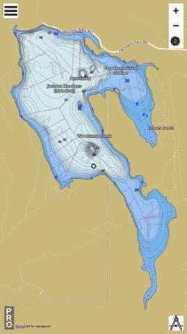 Jackson Meadows Reservoir Fishing Map - i-Boating App