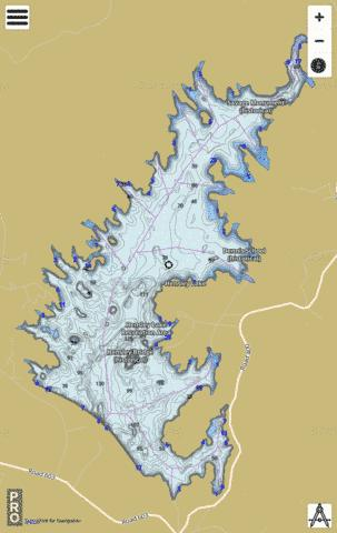 Lake Hensley Fishing Map - i-Boating App