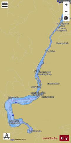 Lewiston Lake Fishing Map - i-Boating App