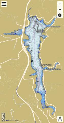 Lexington Reservoir Fishing Map - i-Boating App
