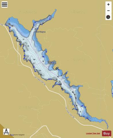 San Pablo Reservoir Fishing Map - i-Boating App