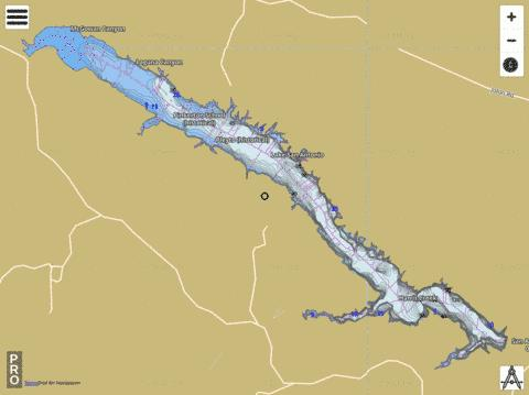 Lake San Antonio Fishing Map - i-Boating App