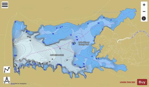 map of lake skinner Skinner Reservoir Fishing Map map of lake skinner
