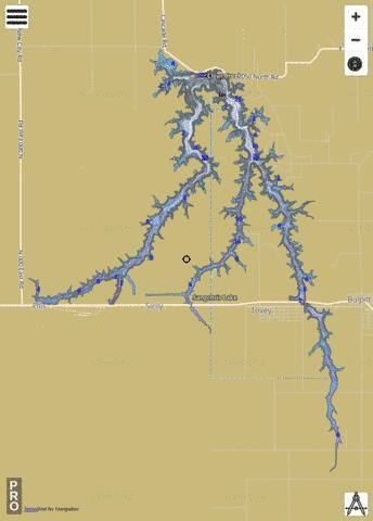 Sangchris Lake Fishing Map - i-Boating App
