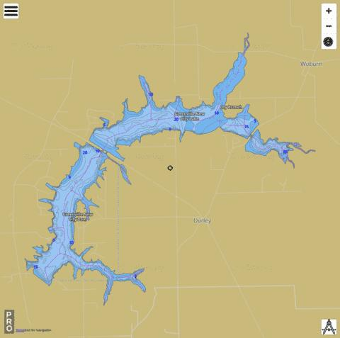 Greenville New City Lake / Governor Bond Lake Fishing Map - i-Boating App