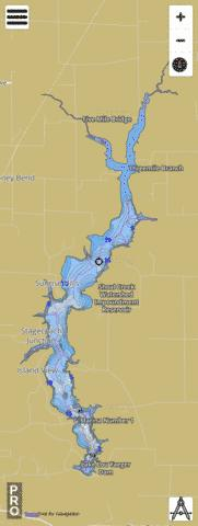 Lake Lou Yaeger Fishing Map - i-Boating App