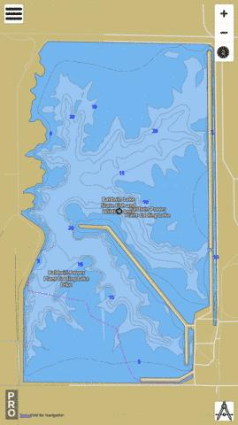 Baldwin Power Plant Cooling Lake Fishing Map - i-Boating App