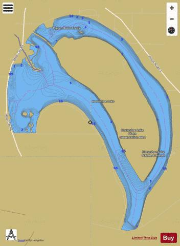 Horseshoe Lake Alexander Fishing Map - i-Boating App
